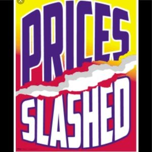 Most PRICES CUT in 1/2